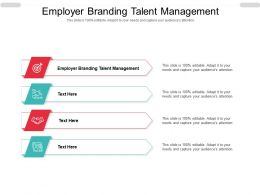 Employer Branding Talent Management Ppt Powerpoint Presentation Inspiration Structure Cpb