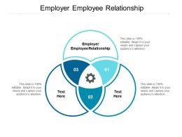 Employer Employee Relationship Ppt Powerpoint Presentation Ideas Shapes Cpb