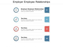 Employer Employee Relationships Ppt Powerpoint Presentation Model Gallery Cpb