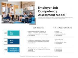 Employer Job Competency Assessment Model
