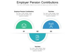 Employer Pension Contributions Ppt Powerpoint Presentation Model Clipart Cpb