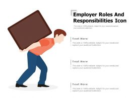 Employer Roles And Responsibilities Icon