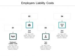Employers Liability Costs Ppt Powerpoint Presentation Gallery Visual Aids Cpb