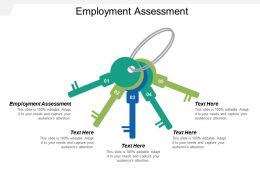 Employment Assessment Ppt Powerpoint Presentation Icon Ideas Cpb