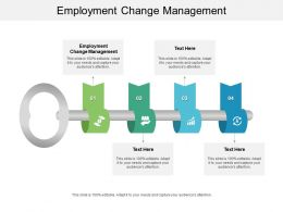 Employment Change Management Ppt Powerpoint Presentation Infographic Template Show Cpb