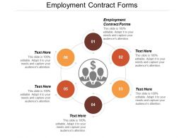 Employment Contract Forms Ppt Powerpoint Presentation File Show Cpb