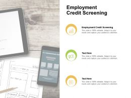 Employment Credit Screening Ppt Powerpoint Presentation Model Background Cpb