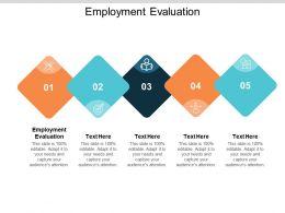 Employment Evaluation Ppt Powerpoint Presentation File Slides Cpb