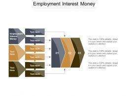 Employment Interest Money Ppt Powerpoint Presentation Gallery Background Image Cpb