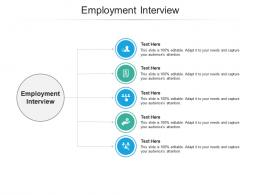 Employment Interview Ppt Powerpoint Presentation Infographic Template Designs Cpb