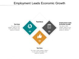 Employment Leads Economic Growth Ppt Powerpoint Presentation Icon Grid Cpb