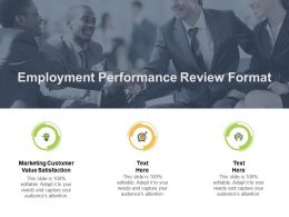 Employment Performance Review Format Ppt Powerpoint Presentation Gallery Cpb