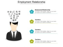 Employment Relationship Ppt Powerpoint Presentation Gallery Influencers Cpb