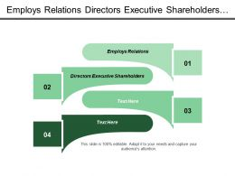 Employs Relations Directors Executive Shareholders Information Create Preference