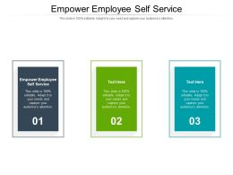 Empower Employee Self Service Ppt Powerpoint Presentation Gallery Files Cpb
