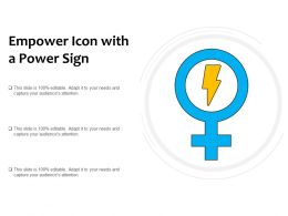 Empower Icon With A Power Sign