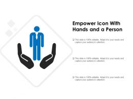 Empower Icon With Hands And A Person