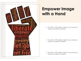 Empower Image With A Hand