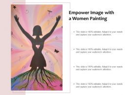 Empower Image With A Women Painting