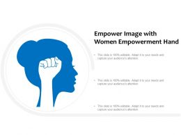 Empower Image With Women Empowerment Hand
