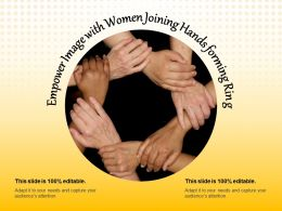 Empower Image With Women Joining Hands Forming Ring