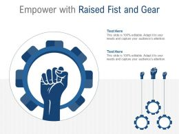 Empower With Raised Fist And Gear