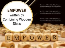 Empower Written By Combining Wooden Dices