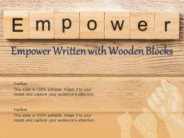 Empower Written With Wooden Blocks
