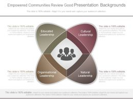 Empowered Communities Review Good Presentation Backgrounds