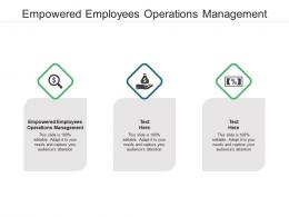 Empowered Employees Operations Management Ppt Powerpoint Presentation Summary Brochure Cpb