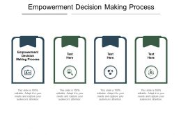 Empowerment Decision Making Process Ppt Powerpoint Presentation Slides Icon Cpb