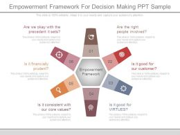 Empowerment Framework For Decision Making Ppt Sample