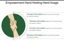 Empowerment Hand Holding Hand Image