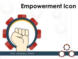 Empowerment Icon Motivation Teamwork Authority Illustrating Strength