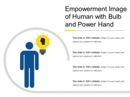 Empowerment Image Of Human With Bulb And Power Hand