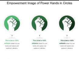 Empowerment Image Of Power Hands In Circles