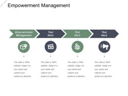 Empowerment Management Ppt Powerpoint Presentation Infographic Template Template Cpb
