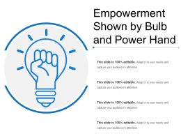 Empowerment Shown By Bulb And Power Hand