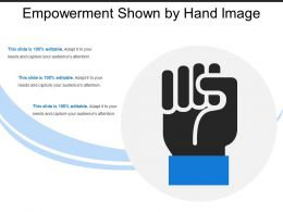 Empowerment Shown By Hand Image