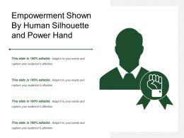 Empowerment Shown By Human Silhouette And Power Hand