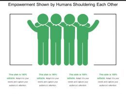 Empowerment Shown By Humans Shouldering Each Other