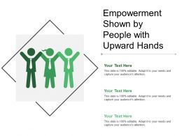 Empowerment Shown By People With Upward Hands