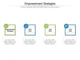 Empowerment Strategies Ppt Powerpoint Presentation Professional Format Ideas Cpb