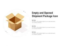 Empty And Opened Shipment Package Icon