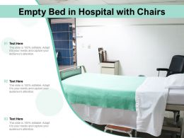 Empty Bed In Hospital With Chairs