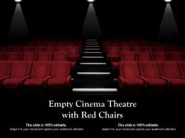 Empty Cinema Theatre With Red Chairs