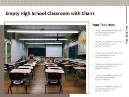 Empty High School Classroom With Chairs