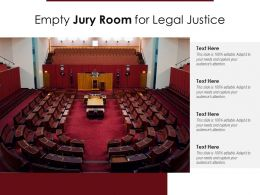 Empty Jury Room For Legal Justice