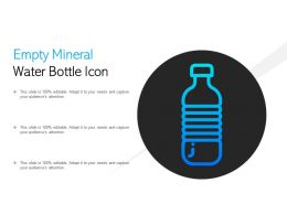 Empty Mineral Water Bottle Icon