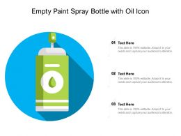Empty Paint Spray Bottle With Oil Icon
